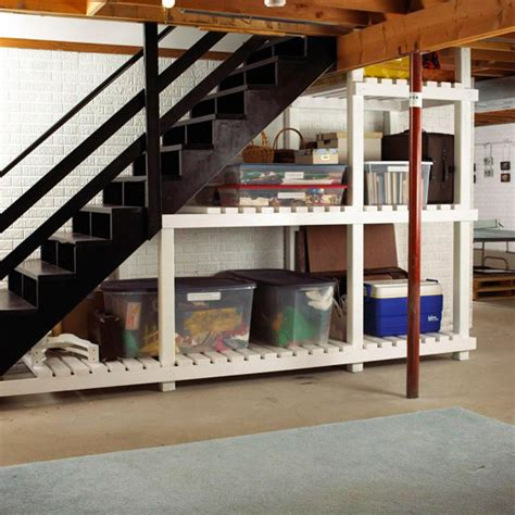 basement storage basement shelving ideas homesfeed