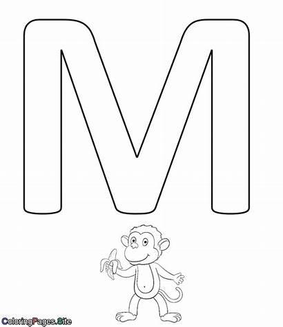 Letter Coloring Alphabet Letters Coloringpages Drawing Children