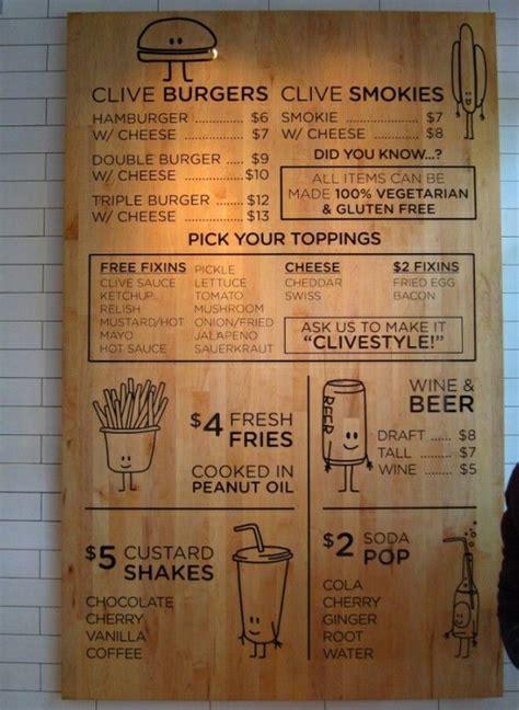alternative menu board  images menu card design