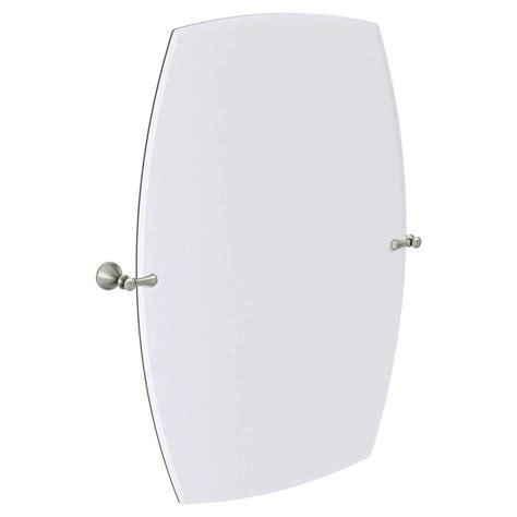 Moen Bathroom Mirrors by Moen Rockcliff Large 28 3 In Rectangular Frameless