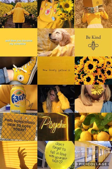 aesthetic wallpaper collage yellow aesthetic