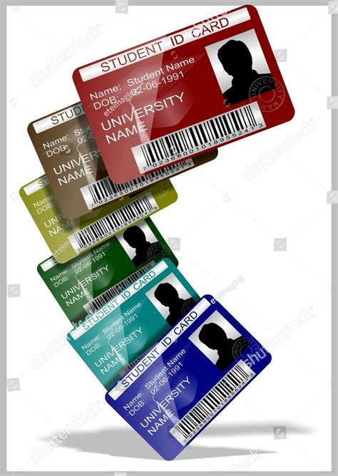iconic student card templates ai psd word