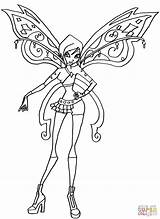 Coloring Tecna Believix Pages Elfkena Bw Winx Club Deviantart Drawing Categories sketch template