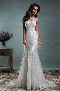 sexy mermaid backless vintage lace wedding dress with With sexy vintage wedding dress