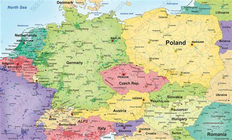 political vector map central europe   world