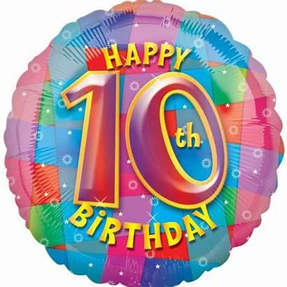 Birthday Happy Balloon 10th Wishes Party Ten