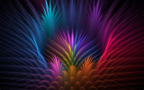 Feathers, Colorful, Abstract Wallpapers Hd / Desktop And