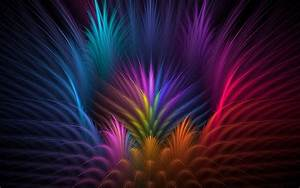 Feathers, Colorful, Abstract, Wallpapers, Hd, Desktop, And