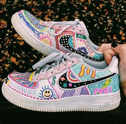 Force Nike Vsco Aesthetic Painted Vans Zapatos