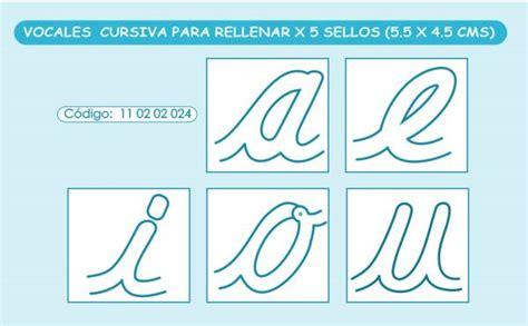 vocales en cursiva para rellenar x 5