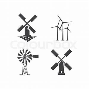 Illustration Of Windmill Logo Design