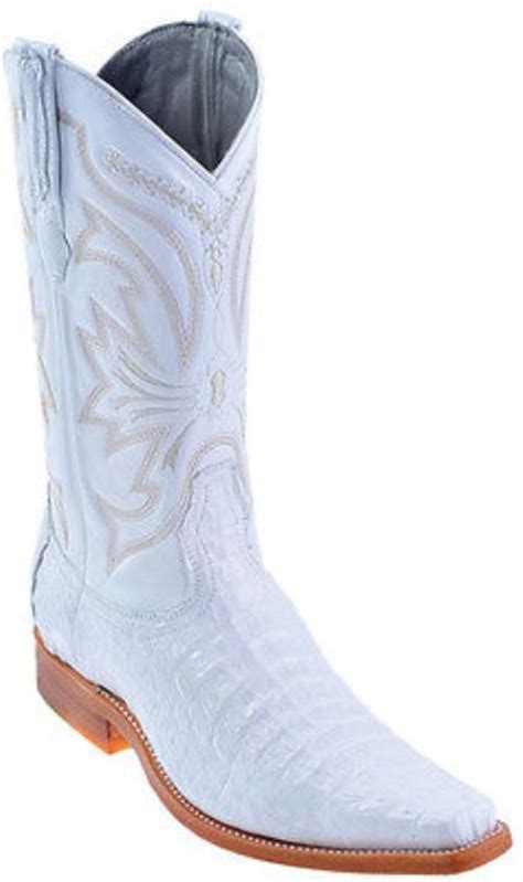 White Authentic Los Altos Caiman Skin Boot Fashion Western