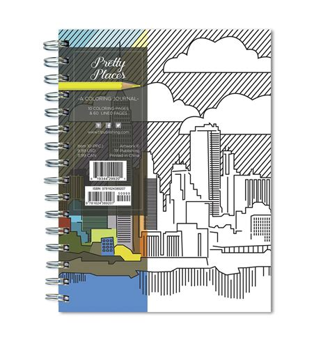 tf publishing pretty places  page coloring journal
