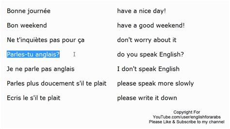 French basic expressions part 2 - French For Beginners ...