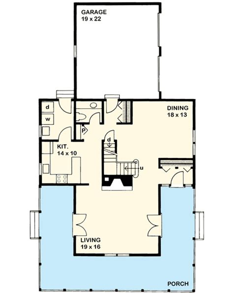 Tshaped Farmhouse Design  46158se  2nd Floor Master