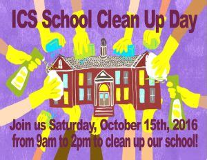 school clean day potluck international community school
