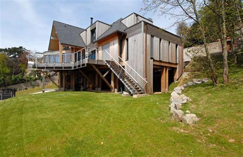 maison en bois en normandie pose pare pluie et bardage maison ossature bois en normandie devis