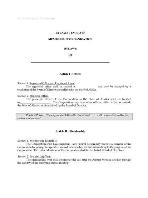 bylaws template 4 free templates in pdf word excel
