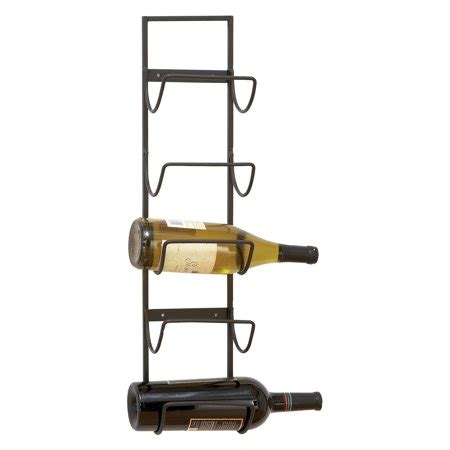 the rack woodland woodland imports carmalina metal wall 5 bottle wine cradle