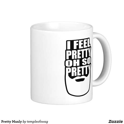 This bad boy weighs in at a hefty 1.3lbs and holds a healthy 15oz. Pretty Manly Classic White Coffee Mug   Mugs, Coffee mugs, White coffee mugs
