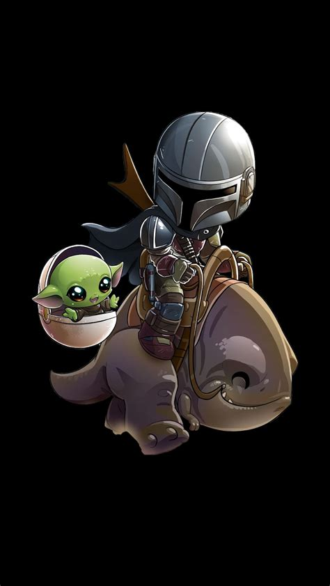 """The cute baby yoda is here for you. The child """"Baby Yoda"""" phone wallpaper collection 