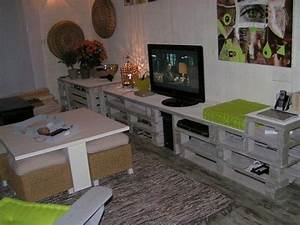 salon meuble tv palette abenchaalorsfr With meubles en palettes de recuperation
