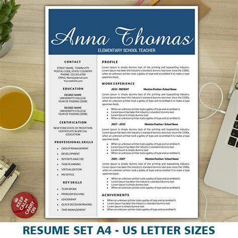 elementary teacher resume  cover letter template
