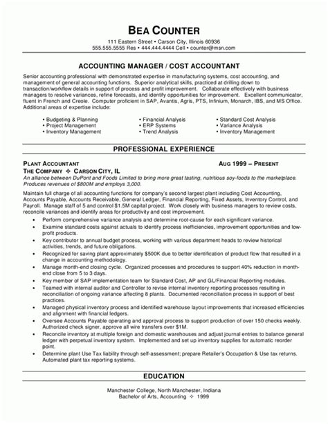 summary of qualifications resume exle resume sles
