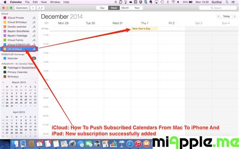 how to link calendars on iphone icloud how to push subscribed calendars from mac to
