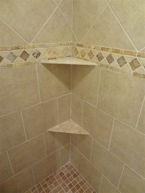 border tiles for bathrooms our own ceramic shower wall and floor tile border detail and shelves of travertine tile