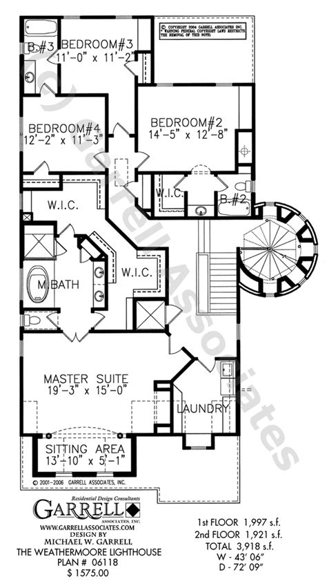 lighthouse floor plans weathermoore lighthouse plan house plans by garrell