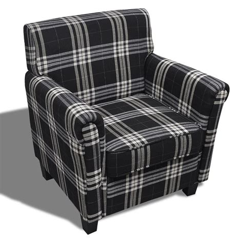 Cuscini Poltrone Sofà - vidaxl poltrona in tessuto nero con cuscino di seduta sof 224