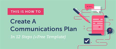 Communications Plan Template How To Create Yours In 12 Steps