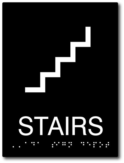 stairs symbol sign  tactile wording  braille