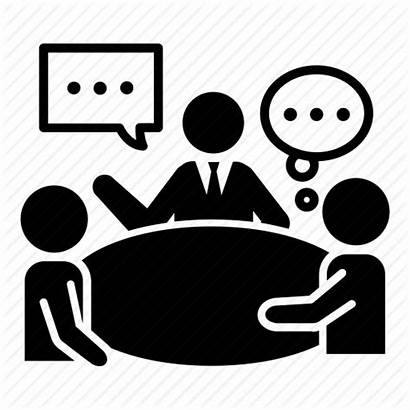 Meeting Icon Table Round Icons Business Discussion