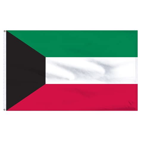 Kuwait Flag 4ft x 6ft Nylon