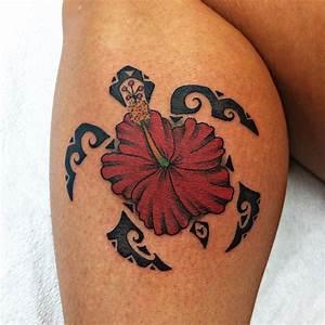 Flower Tattoo Tribal Hibiscus August Tattoo