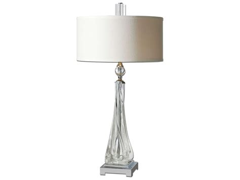 Uttermost Grancona Twisted Glass Two-light Table Lamp Pottery Kitchen Canisters Blue Upholstered Living Room Chair Small Hgtv Colors With Gray Furniture Design Ideas Corner Tv Rectangle Fireplace Cheap Sets Houston Tx Covers