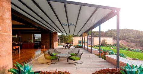 retractable roof project  outdoor coffee shop aluminum pergola alunotec