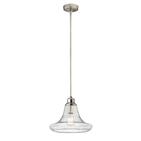 Kitchen Blinds And Shades Ideas - home decorators collection 1 light satin nickel contemporary mini pendant with patterned clear