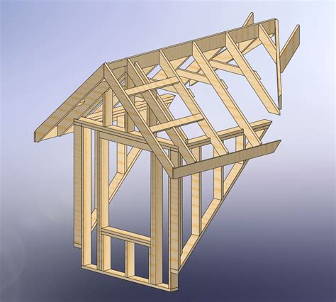 Roof Dormer Plans 48x28 garage with attic and six dormers