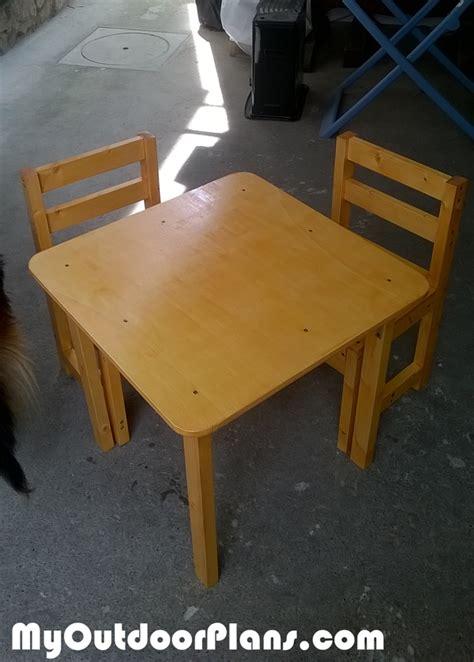 diy kids table myoutdoorplans  woodworking plans