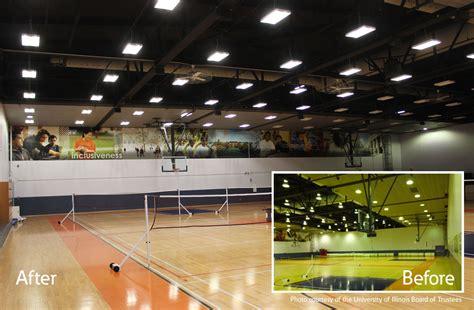 led high bay gym lighting ecs university of illinois arc gymnasium lighting