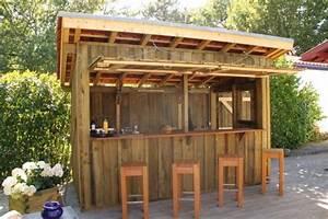terrasse bois bar cuisines exterieures pinterest With bar de terrasse exterieur
