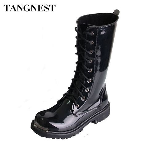 Popular Mens Patent Leather Boots Buy Cheap