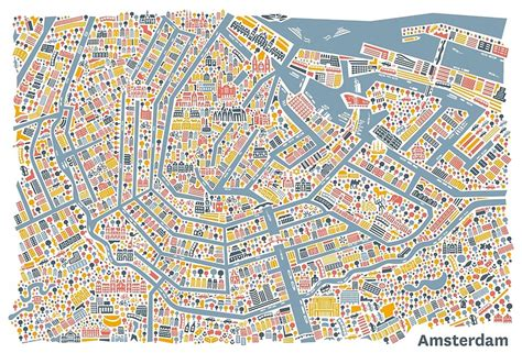 quot amsterdam city map quot posters by vianina redbubble