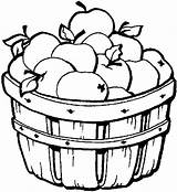 Apple Coloring Candy Clip Fall Apples Picking Colouring Clipart Sheet Template Fruit sketch template