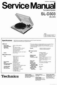 Technics Sl-d-303 Turntable   Service Manual