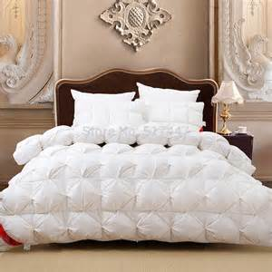 aliexpress com buy luxury 100 goose down white plaid king queen or 220 240 or 200 230