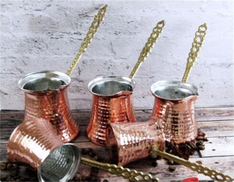 shipping authentic  hand hammered copper turkish coffee pot tools jazwa cezve